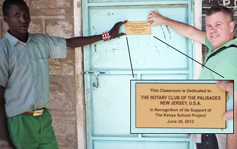 Rotary Club of The Palisades' Classroom at the Kishermoruak-Obama Primary School