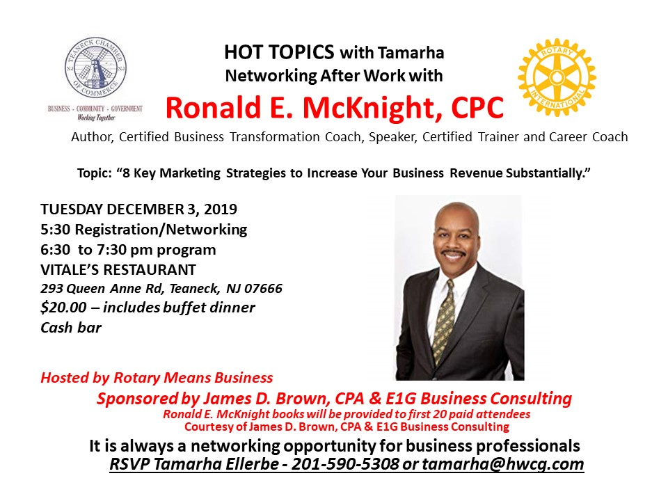 RMB with Ronald McKnight Tuesday Dec 3 2019 at Vitales