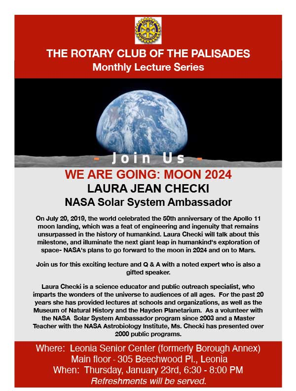 Laura Chechi: The 50th anniversary of the 1969 moon landing and the upcoming 2024 NASA mission to the moon and Mars